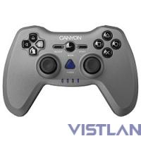 Canyon CNS-GPW6 3in1 wireless gamepad {up to 8 hours of play time, transmission distance up to 10m, rubberized finishing, dual-shock vibration (Compatible with PC, PS2, PS3)}