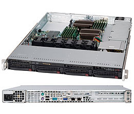 1U, 13.68''x13'', 4x3.5'' hot-swap SAS/SATA with SES2, 1xFH/FL, 1xLP, 437x43x650mm, 600W Platinum, WIO