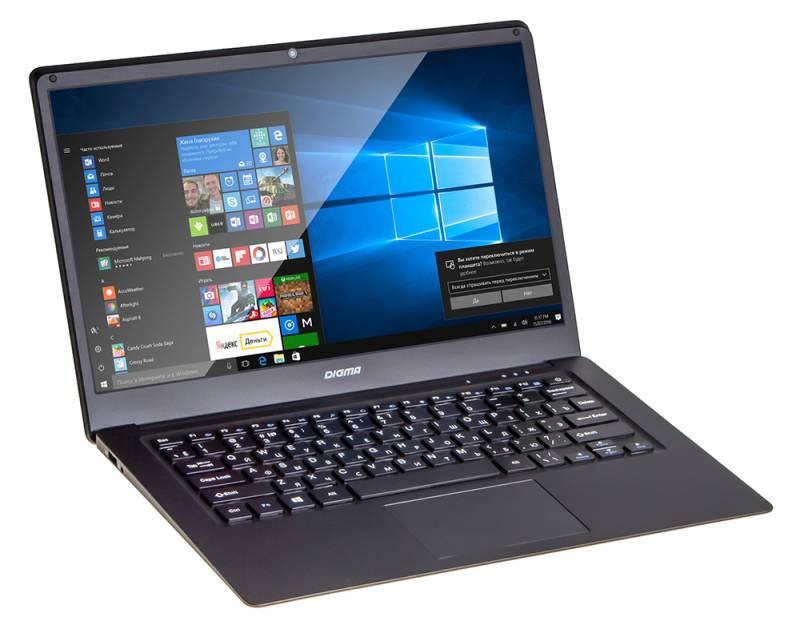 "Ноутбук Digma CITI E400 Atom X5 Z8350/4Gb/SSD32Gb/Intel HD Graphics 400/14.1""/IPS/FHD (1920x1080)/Windows 10/black/WiFi/BT/Cam/9000mAh"