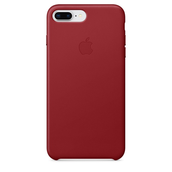 iPhone 8 Plus / 7 Plus Leather Case - RED