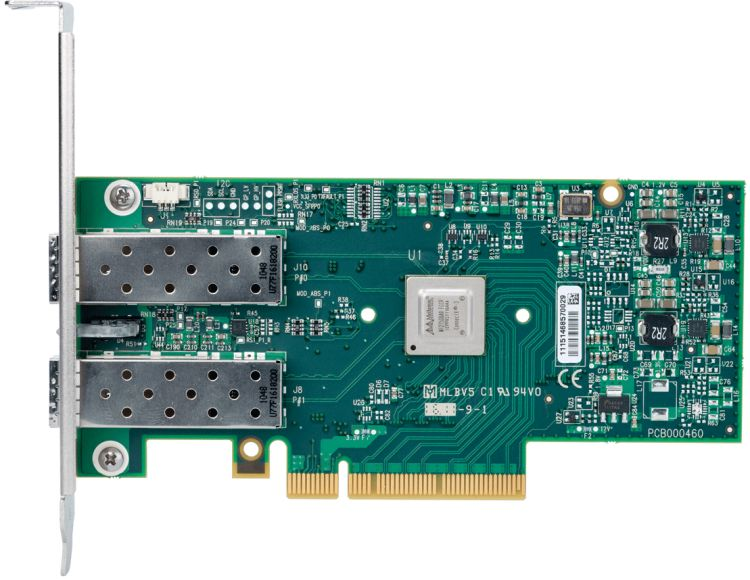 Mellanox ConnectX®-3 Pro EN network interface card, 10GbE, dual port SFP+, PCIe3.0 x8 8GT/s, tall bracket, RoHS R6, hardware revision C