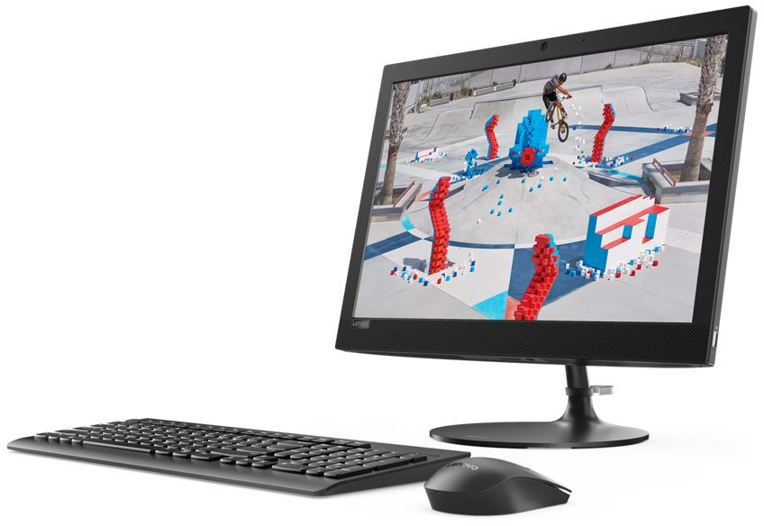"Lenovo IdeaCentre AIO 330-20AST Monitor stand  19.5""(1440x900)/AMD E-Series E2-9000(1.8Ghz)/4096Mb/1000Gb/DVDrw/Int:AMD Radeon R2/BT/WiFi/war 1y/3.9kg/black/DOS + Клавиатура, мышь USB"
