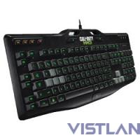 Клавиатура Logitech G105 черный USB Multimedia Gamer LED