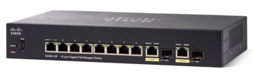 Cisco SG350-10P 10-port Gigabit POE Managed Switch