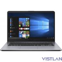 "Ноутбук Asus X505BA-EJ163T A6 9220/4Gb/1Tb/AMD Radeon R4/15.6""/FHD (1920x1080)/Windows 10/dk.grey/WiFi/BT/Cam"