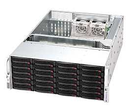 "Корпус компьютерный SuperMicro Chassis 4U/24 x 3.5"" hot-swap/1U 1000/1200W Redundant"
