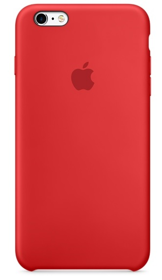 iPhone 6 Plus/6s Plus Silicone Case - RED
