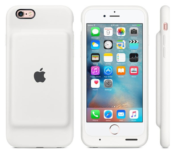 iPhone 6/6s Smart Battery Case - White
