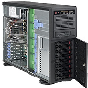 4U/Tower, E-ATX, 2x5.25'', 1x3.5'', 8x3.5'' hot-swap SAS/SATA with SES2, 7xFH, 452x178x648mm, 865W