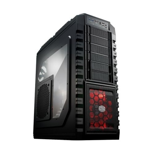 Cooler Master Case HAF X Black (windows, 2xUSB3.0, 2xUSB2.0, 2xAudio, 1x1394, 1xeSATA, w/o PS down) Full ATX