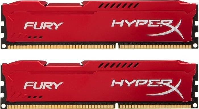 Kingston 16GB 2666MHz DDR4 CL16 DIMM (Kit of 2) HyperX FURY Red