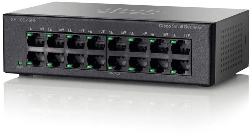 SF110D-16HP 16-Port 10/100 PoE Desktop Switch