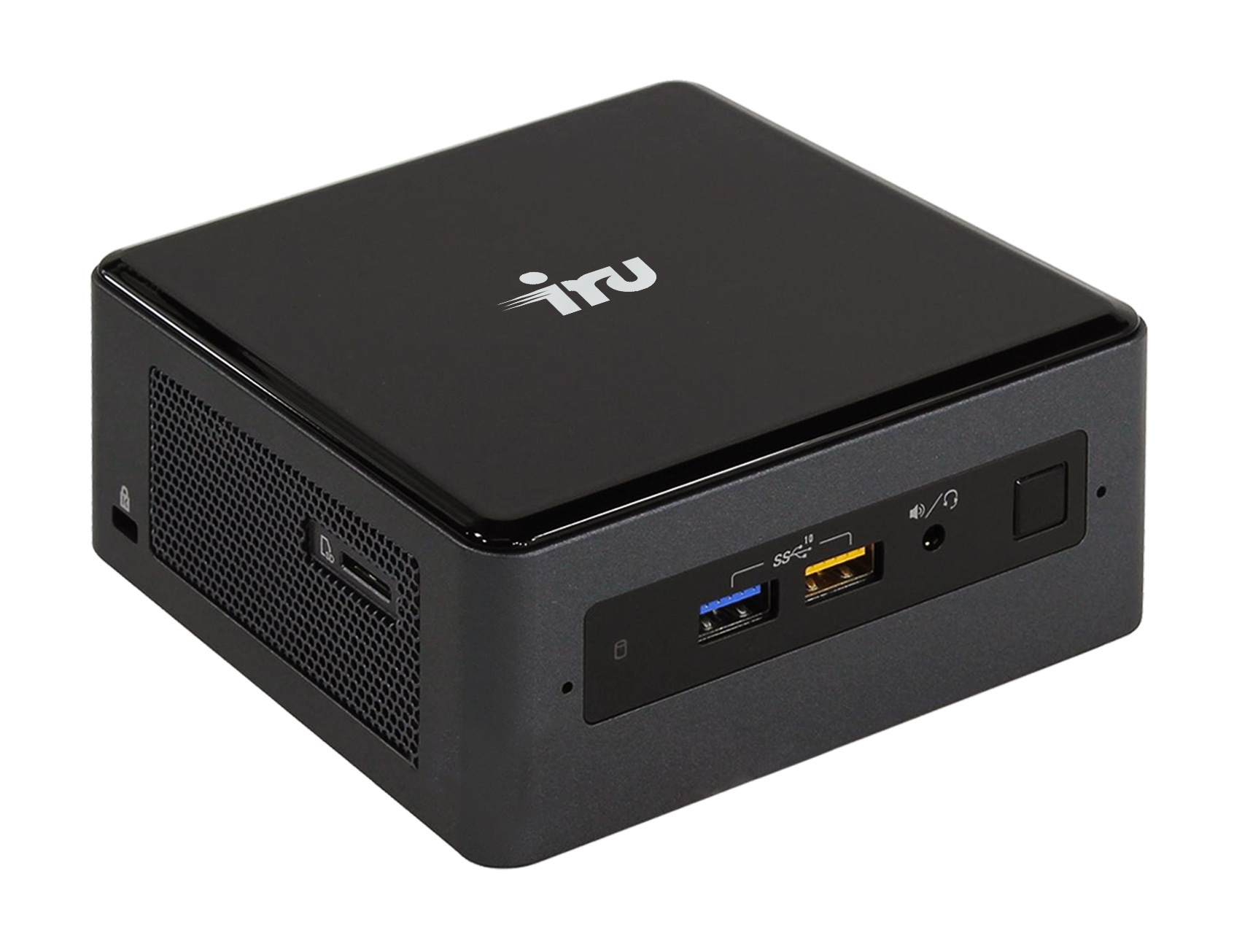 Неттоп IRU NUC 115 i5 8259U (2.3)/8Gb/SSD240Gb/Iris Graphics 655/CR/Windows 10 Home Single Language 64/GbitEth/WiFi/BT/90W/черный