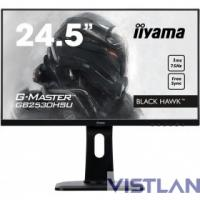 Монитор жидкокристаллический Iiyama Монитор LCD 24.5'' [16:9] 1920х1080(FHD) TN, nonGLARE, 250cd/m2, H170°/V160°, 1000:1, 12М:1, 16.7M, 1ms, VGA, HDMI, DP, Height adj, Pivot, Tilt, Speakers, Swivel, 3Y, Black