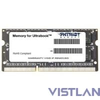 Patriot DDR3 SODIMM 8GB PSD38G1600L2S (PC3-12800, 1600MHz, 1.35V)