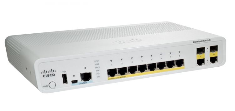 Catalyst 2960C Switch 8 FE PoE, 2 x Dual Uplink, Lan Base