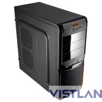 "Miditower Aerocool ""V3X Advanced Evil Black Edition"", ATX, черный-оранж без БП [EN57394]"