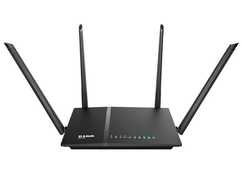 Маршрутизатор D-Link 802.11n DualBand Wireless Gigabit Router, with 4-ports 10/100/1000 Base-TX маршрутизатор AC1200 с USB-портом