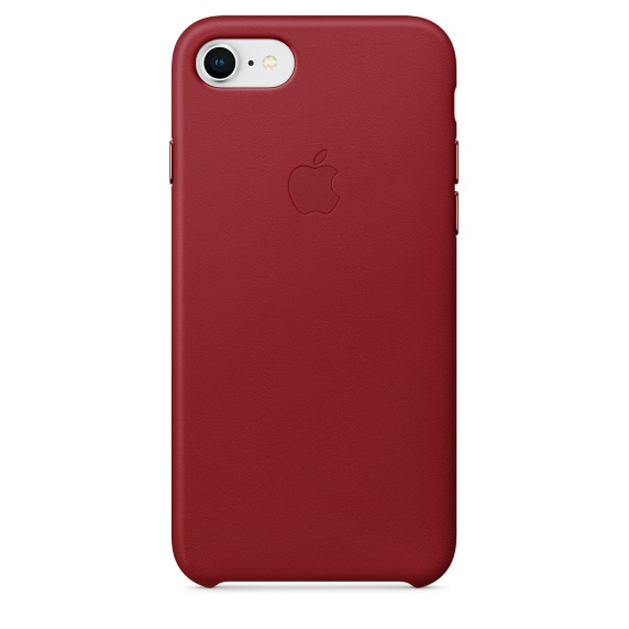 iPhone 8 / 7 Leather Case - RED