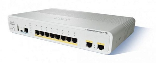 Catalyst 2960C Switch 12 FE PoE, 2 x Dual Uplink, Lan Base