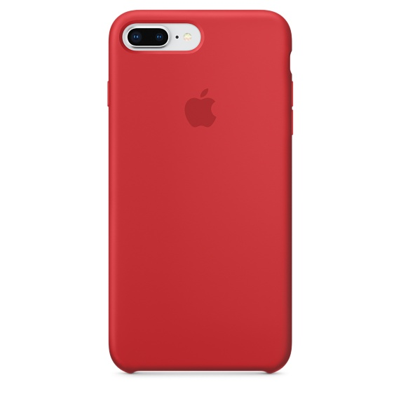iPhone 8 Plus / 7 Plus Silicone Case - RED