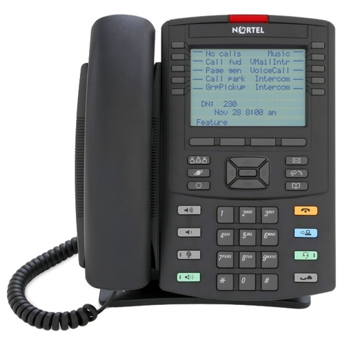 IP Phone 1230 Charcoal with Icon Keys without Power Supply