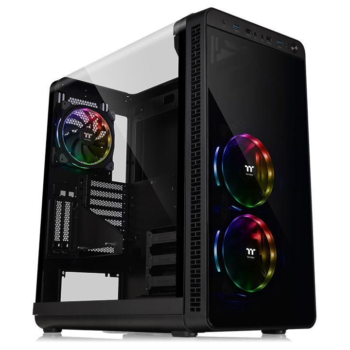 Корпус Thermaltake View 37 RGB Plus черный без БП E-ATX 5x120mm 3x140mm 2xUSB2.0 2xUSB3.0 audio bott PSU