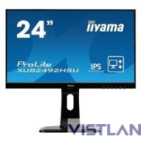 Монитор жидкокристаллический Iiyama Монитор LCD 23.8'' [16:9] 1920х1080(FHD) IPS, nonGLARE, 250cd/m2, H178°/V178°, 1000:1, 5М:1, 16.7M Color, 5ms, VGA, HDMI, DP, USB-Hub, Height adj, Pivot, Tilt, HAS, Speakers, Audio out, 3Y, Black