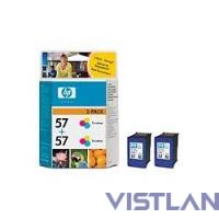 HP 57 2-pack Tri-Colour Inkjet Print Cartridge