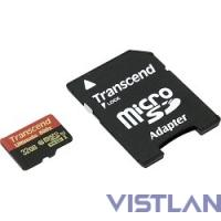 Флеш карта microSDHC 32Gb Class10 Transcend TS32GUSDHC10U1 Ultimate + adapter
