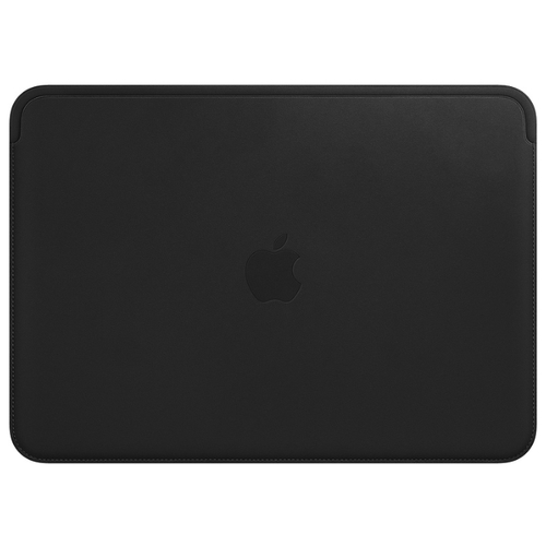 Leather Sleeve for 12-inch MacBook - Black