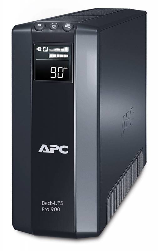 Источник бесперебойного питания APC Back-UPS Pro, Line-Interactive, 900VA / 540W, Tower, IEC, LCD, Serial+USB