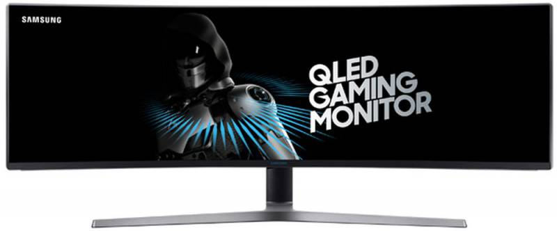 "Samsung C49HG90DMI 48.9"" ultrаwide 32:9 curved VA QLED monitor, 3840x1080, R=1800 mm, 1ms(GtG), 350 cd/m2, MEGA DCR( static 3000:1), 178°/178°, HDMIx2, Display port, mini DP, USB, HAS, Game mode, VESA 100x100 mm, Windows 10, black"