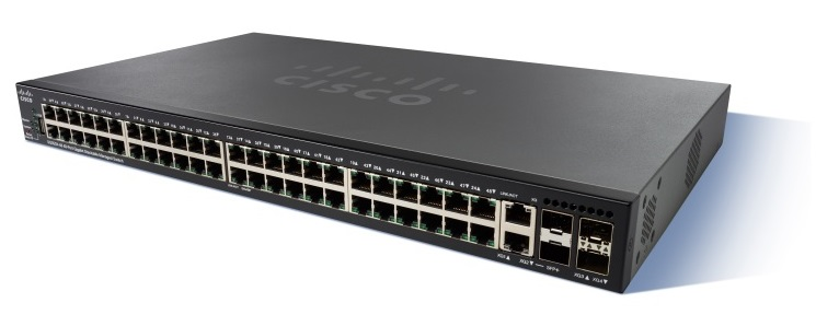 Cisco SG350X-48 48-port Gigabit Stackable Switch