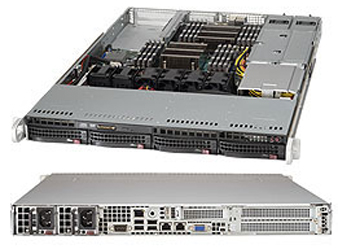 "Корпус компьютерный Supermicro Barebone 1U/Dual socket E5-2600v4/Up to 2TB/2x PCI-E 3.0 x16/Dual port GbE/4x 3.5"" Hot-swap/I/O ports: 2x SuperDOM, 1x VGA,1x Serial, 6x USB 3.0/750W Redundant"