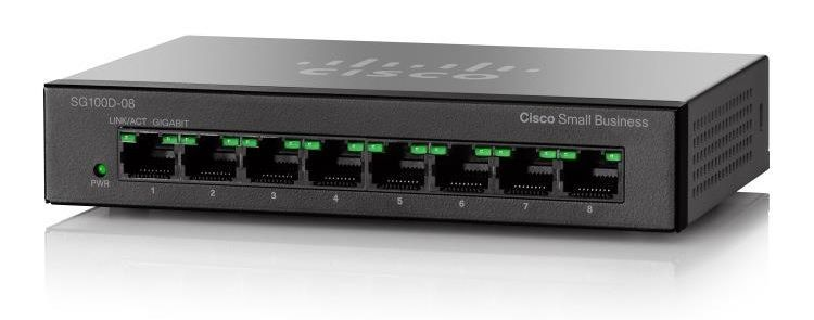 SG110D-08 8-Port Gigabit Desktop Switch