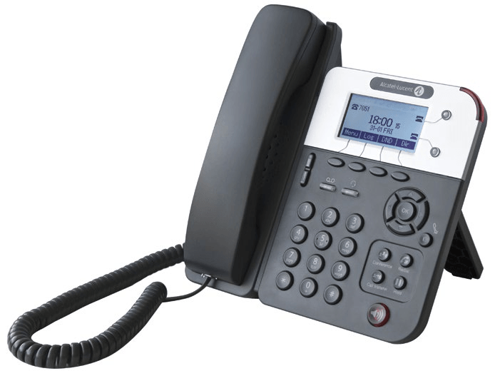 Телефон Alcatel-Lucent Ent Alcatel-Lucent 8001 Deskphone w/o power supply - SIP phone with 2 SIP accounts, 2 Gigabit Ethernet ports,POE or power connector, 3 audio controls keys, navigator, 3,5mm/RJ9 Headset connections, 4 programmable keys