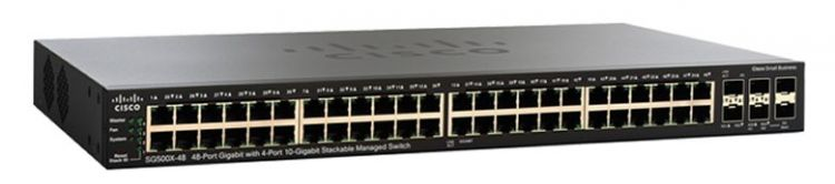Cisco SG550X-48P 48-port Gigabit PoE Stackable Switch
