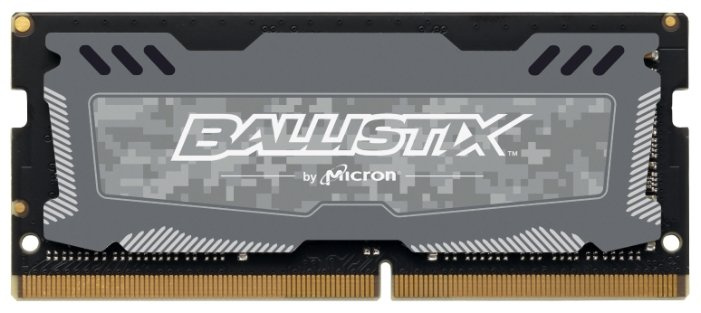 Crucial 8GB DDR4 2666 MT/s (PC4-21300) CL16 SR x8 Unbuffered SODIMM 260pin Ballistix Sport LT Gray