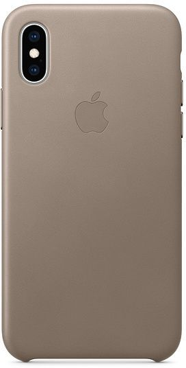 iPhone XS Leather Case - Taupe