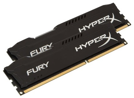 Kingston 8GB 1866MHz DDR3 CL10 DIMM (Kit of 2) HyperX FURY Black Series