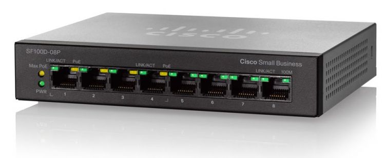 SF110D-08HP 8-Port 10/100 PoE Desktop Switch