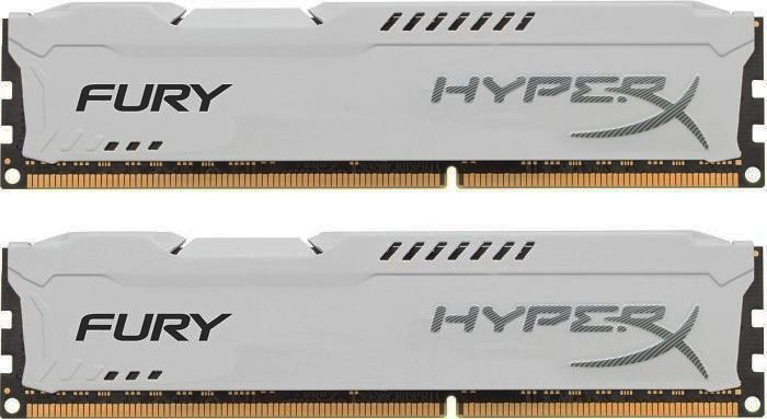 Kingston 8GB 1866MHz DDR3 CL10 DIMM (Kit of 2) HyperX FURY White Series