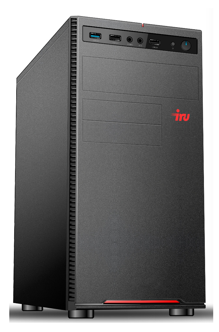 ПК IRU Home 120 MT E1 2500 (1.4)/4Gb/1Tb 7.2k/HD8240/Free DOS/GbitEth/300W/черный