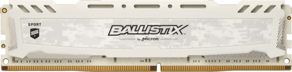 Crucial 8GB DDR4 3000 MT/s (PC4-24000) CL15 SR x8 Unbuffered DIMM 288pin Ballistix Sport LT White