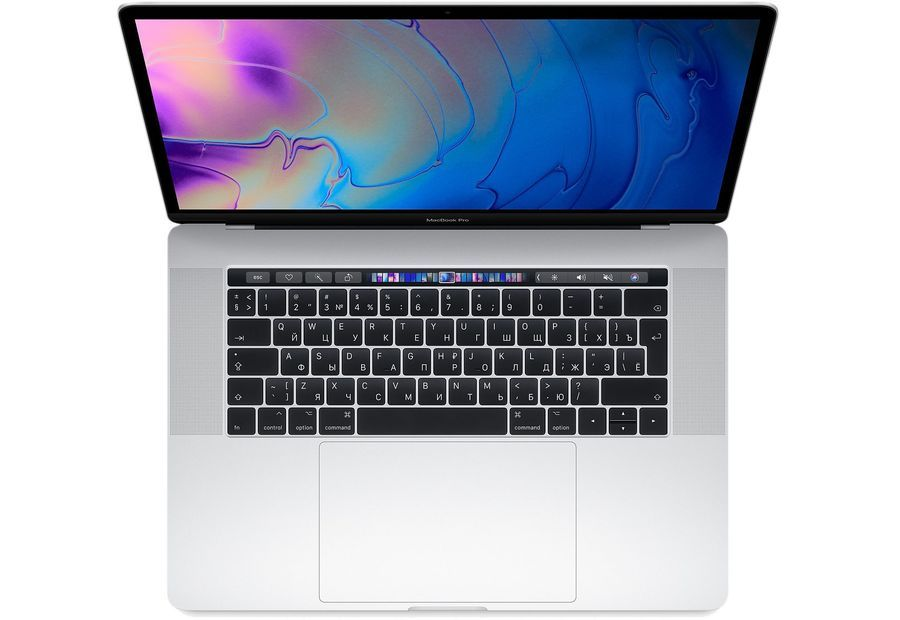 15-inch MacBook Pro with Touch Bar: 2.2GHz 6-core 8th-generation Intel Core i7 (TB up to 4.1GHz)/16Gb/256GB SSD/Radeon Pro 555X with 4GB memory - Silver