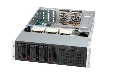 "Элемент корпуса Supermicro 3U chassis support/E-ATX and ATX/8 x 3.5"" hot-swap SAS/SATA/800W hot swap redundant"