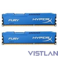 Kingston 8GB 1600MHz DDR3 CL10 DIMM (Kit of 2) HyperX FURY Blue Series