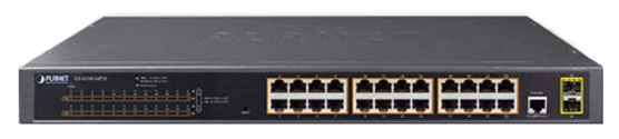 IPv4, 24-Port Managed 802.3at POE+ Gigabit Ethernet Switch + 2-Port 100/1000X SFP (300W)