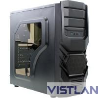 "Miditower Aerocool ""Cyclops Advance Black "", mATX, черный без БП [EN55163/68873]"